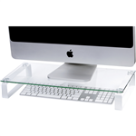 Esselte Monitor Stand Glass 60cm White Legs