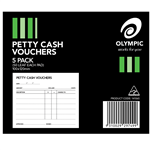 Olympic Petty Cash Pads 50 Leaf 100x120mm 5