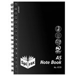 Spirax P570 PP Notebook Side Open A5 200 Pages Black