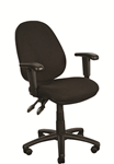 QCA General Task Chair 120Kg With Arms Black BLACK