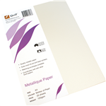 Quill Metallique Paper A4 120gsm Mother Of Pearl 25