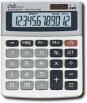 Deli Calculator L1217 12Digit Desktop Light Grey
