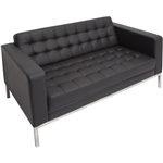 Rapid Venus 2 Seater Reception Lounger Black PU