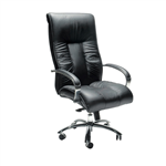 Big Boy Directors Chair Leather with High Back BLACK