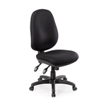 Chair Delta Plus 135Kg High Back Custom Made 10 Working Days Delivery CREPE BLACK