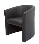 Rapid Space Tub Reception Chair Single Seater BLACK PU