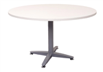 Rapid Meeting Table Round 900mm 4 Star WHITE
