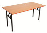 Rapid Folding Table Steel Black Frame 1800X900mm BEECH TOP