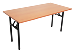 Rapid Folding Table Black Steel Frame 1500X750mm BEECH TOP