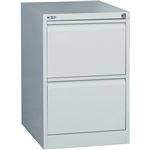 Rapid Filing Cabinet 2 Drawer Go Steel SILVER GREY