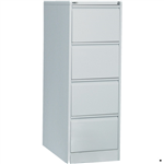 Rapid Filing Cabinet 4 Drawer Go Steel SILVER GREY