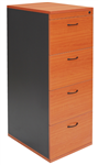 Rapid Filing Cabinet 4 Drawer Lockable BEECHIRONSTONE