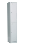Rapid Go Locker 2 Tier 1830X305X455mm Assembled SILVER GREY