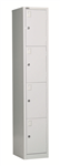 Rapid Go Locker 4 Tier 1830X305X455mm Assembled SILVER GREY