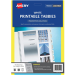 Avery Tabbies Printable A4 L7431 Pack 48 WHITE