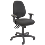 Rapid EG100CH Chair Task High Back With Arms Fully Ergonomic BLACK