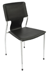 Fernando Chair Visitor Chrome Frame BLACK