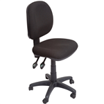 Rapid EC070CM Chair Task Mid Back Fully Ergonomic BLACK