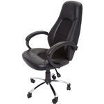 Rapid CL410 Chair Executive High Back With Arms PU Fabric Inlay