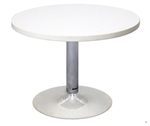 Rapid Round Coffee Table 600Mm Chrome Base 425H NATURAL WHITE