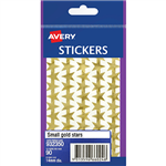 Avery Gold Star Stickers 14 Mm 90 Pack