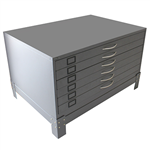 Plan 6 Drawer Cabinet With Stand 858 H X 1375 W 960 D mm Silver Grey