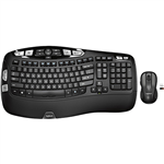 Logitech Wireless Wave Keyboard And Mouse Combo Mk550