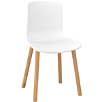 ACTI 4T SIDE CHAIR WITH DOWEL LEGS WHITE