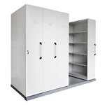 RAPID MOBILE SHELVING 4 BAYS 2670L X 1280W X2150H WHITE