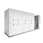 RAPID MOBILE SHELVING 8 BAYS 4450L X 1280W X2150H WHITE