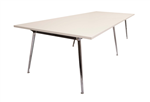 RAPID AIR BOARDROOM TABLE 2400X1200X730MM TOP 25MM WHITE TOP