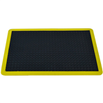 ITALPLAST BUBBLE MATS 600X900MM BLACK WITH YELLOW EDGE