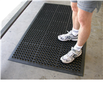 ITALPLAST SAFEWALK RUBBER MATS 1500X914MM BLACK