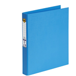 Marbig Binder Bright Ring PE A4 2D Ring 25mm SKY BLUE
