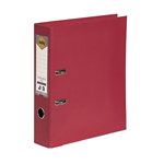 MARBIG PE LINEN LEVER ARCH FILE A4 DEEP RED