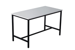 RAPID HIGH BAR TABLE BLACK POWDERCOATED STEEL FRAME 1800X900X1050H WHITE