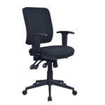 AVIATOR ERGONOMIC EXECUTIVE CHAIR YS117 BLACK WITH ARMS