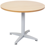 RAPID MEETING TABLE ROUND TOP 1200 DIA 4 STAR BASE BEECH