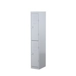 STEELCO 2 DOOR LOCKER  1830H X 305W X 460D  SILVER GREY