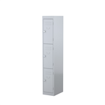 STEELCO 3 DOOR LOCKER  1830H X 305W X 460D SILVER GREY