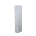 STEELCO 4 DOOR LOCKER  1830H X 305W X 460D SILVER GREY