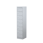 STEELCO 8 DOOR LOCKER  1830H X 380W X 460D SILVER GREY
