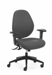 ATLAS 160 HEAVY DUTY TASK CHAIR 3 LEVER WITH ADJUSTABLE ARMS 160KG