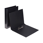 Binder Insert Clearview Ring A4 2D 25mm BLACK