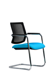 BREATHE CANTILEVER MESH BACK VISITOR CHAIR BLACK