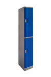 LOCKER 2 DOOR ABS PLASTIC 1940HX380WX500D BLUE