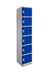 LOCKER 6 DOOR ABS PLASTIC 1940HX380WX500D BLUE