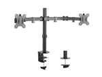 Dual Monitor Arm Double Jointed Black