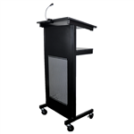 Rapid Heavy Duty Lectern1200mm H x 445mm W x 450mm D Black