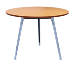 Rapid Air Round Table Polished Aluminium Frame With 900mm Dia BEECH TOP